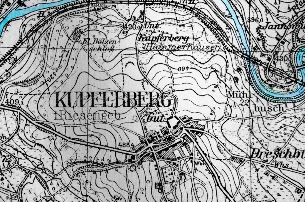 miedzianka mapa